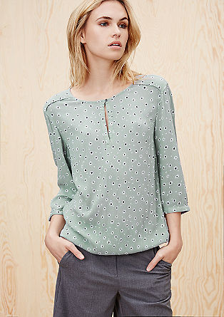 Patterned, O-shaped blouse from s.Oliver