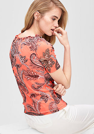 Patterned blouse top from s.Oliver