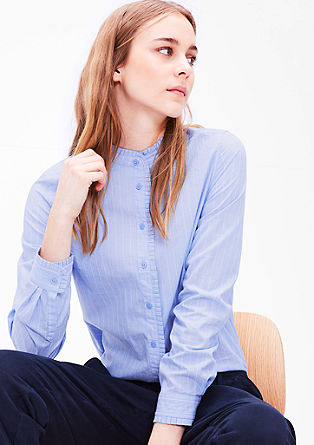 Patterned blouse with ruffles from s.Oliver
