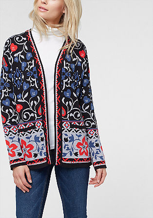 Patterned cardigan from s.Oliver