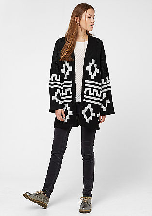 Patterned cardigan with wide sleeves from s.Oliver
