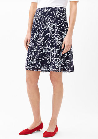 Patterned chiffon skirt from s.Oliver