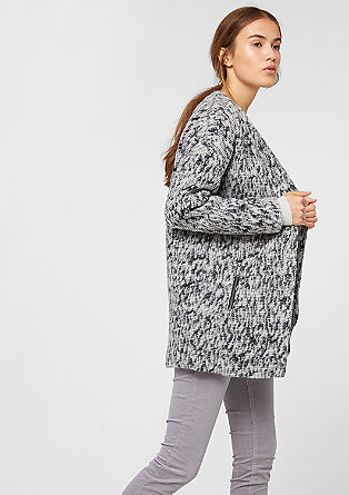Patterned coat with a felt finish from s.Oliver