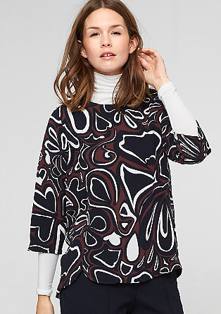Patterned crêpe blouse from s.Oliver