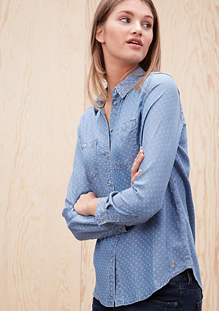 Patterned denim blouse from s.Oliver