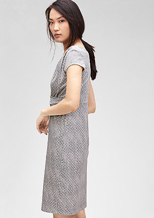 Patterned draped dress from s.Oliver