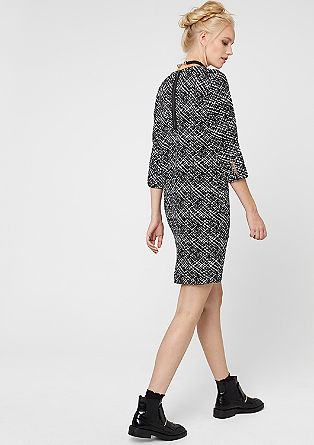 Patterned dress in a fashionable cut from s.Oliver
