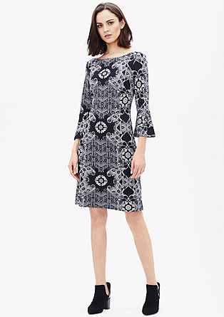 Patterned dress in firm jersey from s.Oliver