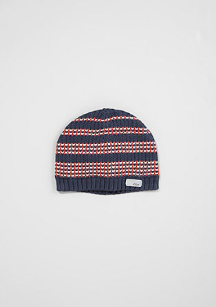 Patterned knit hat from s.Oliver