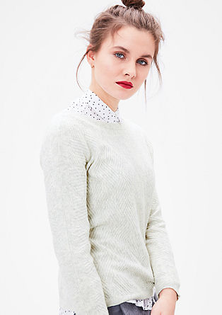 Patterned knit jumper with wool from s.Oliver