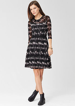 Patterned mesh dress from s.Oliver