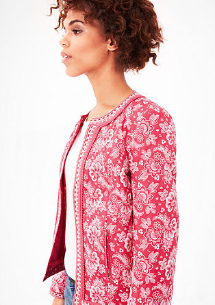 Patterned quilted jacket with border from s.Oliver