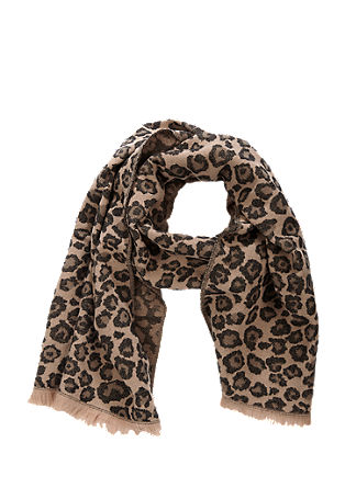 Patterned scarf with a wool finish from s.Oliver