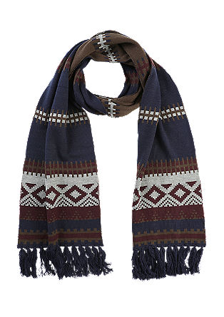Patterned scarf with fringing from s.Oliver