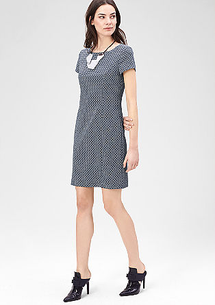 Patterned stretch dress from s.Oliver