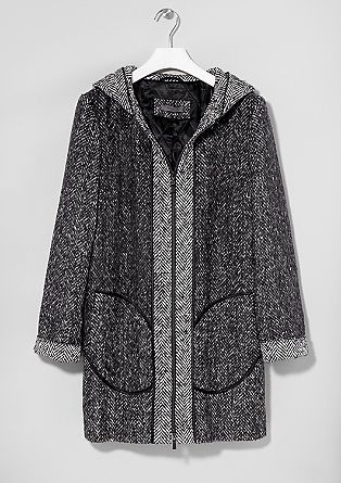 Patterned wool coat from s.Oliver