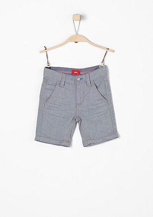 Pelle: bermuda hlače z vzorčasto teksturo