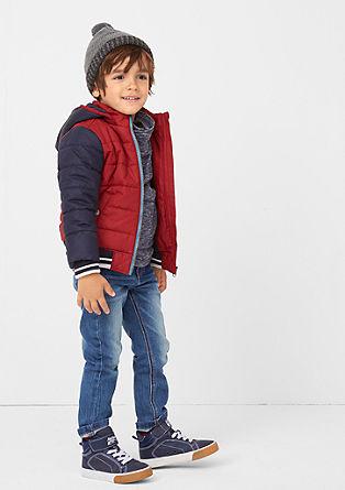 Pelle: modre raztegljive jeans hlače