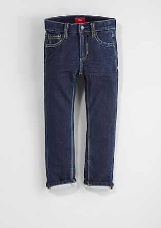 Pelle Straight: comfortable denim tracksuit bottoms from s.Oliver