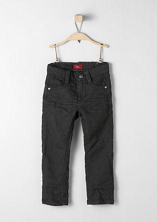 Pelle straight: fijn gemêleerde broek