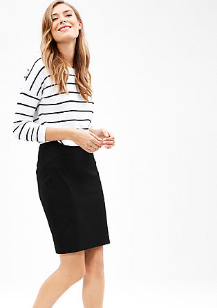 Pencil Skirt mit Webstruktur