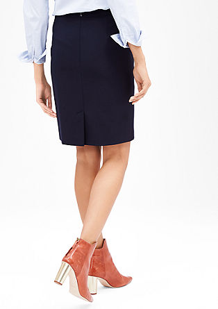 Pencil skirt with woven texture from s.Oliver
