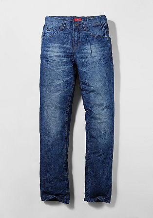 Pete: Lightweight crinkle jeans from s.Oliver