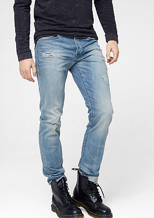 Pete Regular: jeans with distressed details from s.Oliver