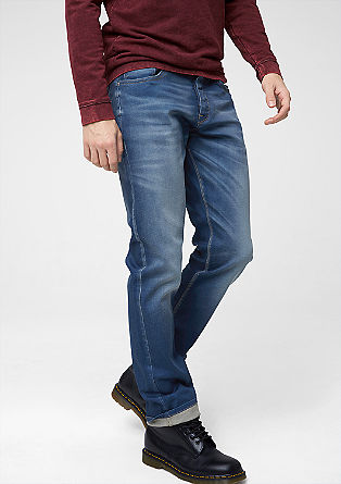 Pete Straight: Blaue Used-Jeans