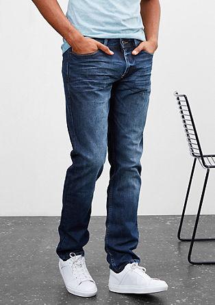Pete straight: dark blue jeans