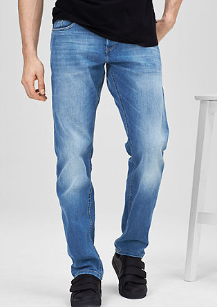 Pete Straight: Helle Used-Jeans