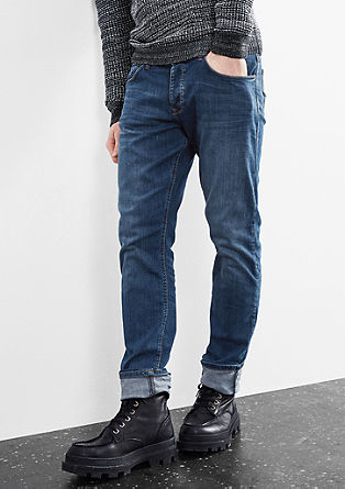 Pete straight: jeans in een used look