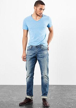 Pete straight: jeans met een used look