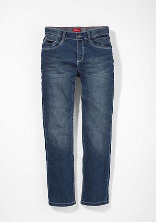 Pete straight: jeans met lichte naden