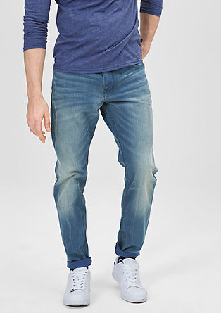 Pete Straight: ravne jeans hlače v ponošenem videzu