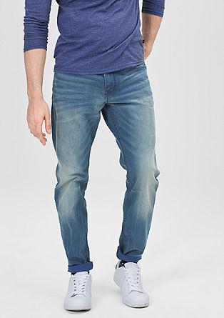 Pete straight: rechte jeans met een used look