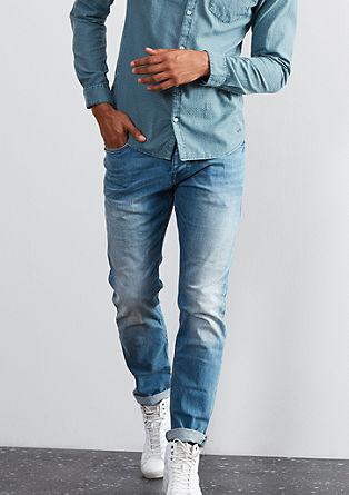 Pete Straight: Robuste Used-Jeans