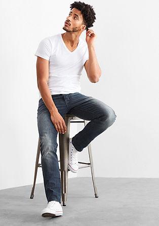 Pete Straight: sivomodre jeans hlače