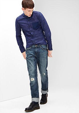 Pete straight: stevige jeans met een used look