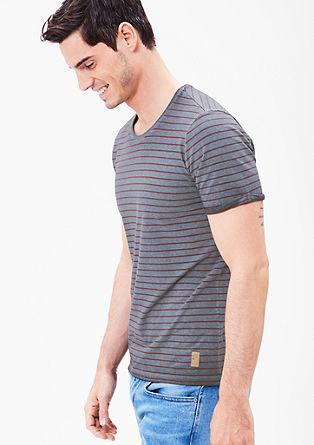 Pigment-dyed shirt met strepen