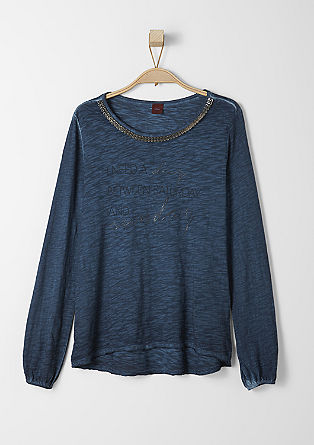 Pigment dyed top with a decorative collar from s.Oliver