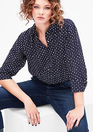Pikčasta bluza iz batista
