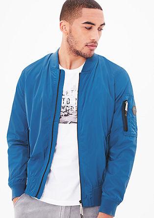 Pilotska jakna s kontrastnimi detajli