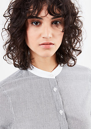 Pinstripe blouse with a frayed hem from s.Oliver