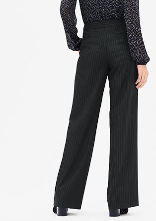 Pinstripe trousers with waistband from s.Oliver