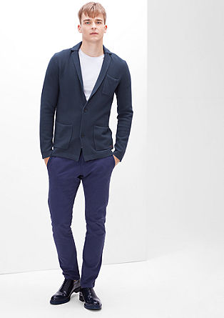 Piqué-look cardigan from s.Oliver