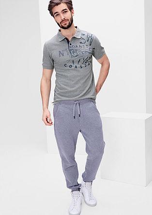 Piqué-Poloshirt mit Print