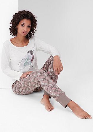 Pižama z natisnjenim motivom