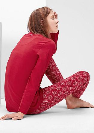Pižama z natisnjenim motivom snežink