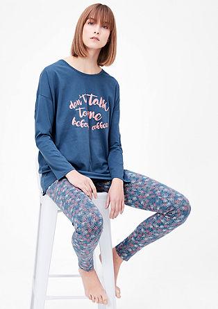 Pižama z vzorčastim spodnjim delom